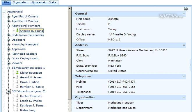 SharePoint Site User Directory Screenshot 2