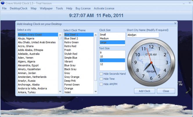 Crave World Clock Screenshot 4