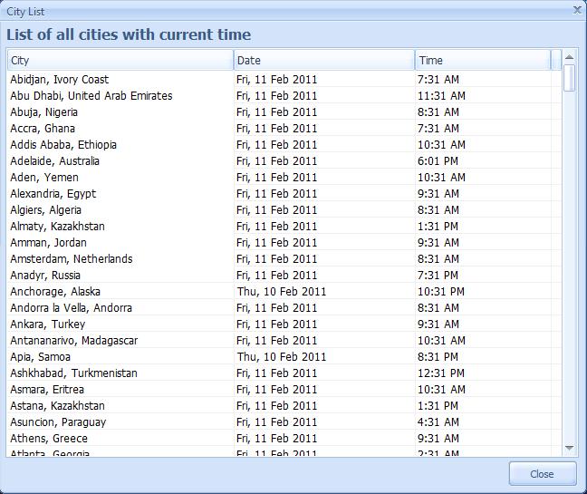 Crave World Clock Screenshot 5