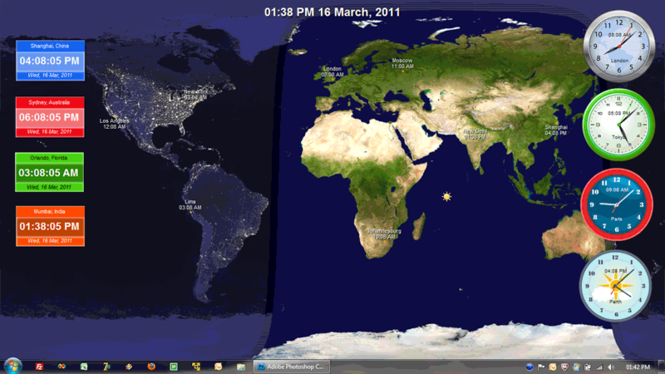 Crave World Clock Screenshot