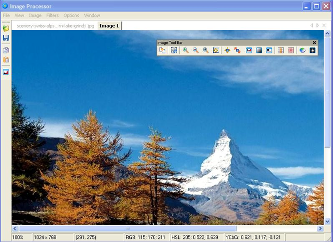 Image Editing Tool Screenshot