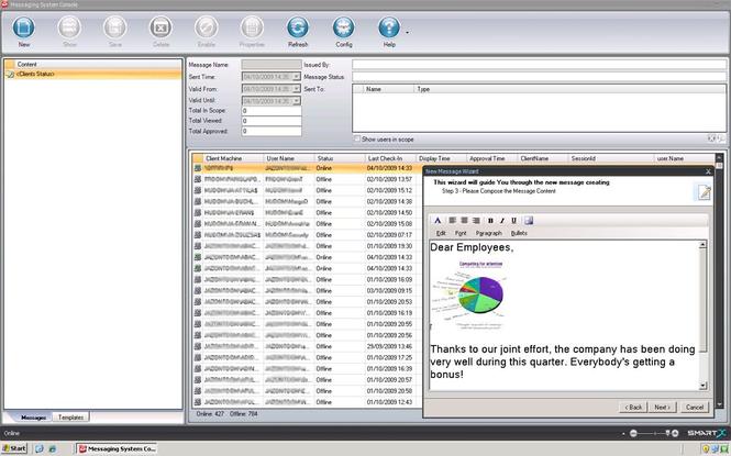 Net Send GUI-Enterprise Messaging System Screenshot