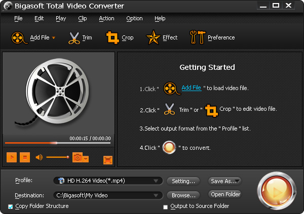 Bigasoft Total Video Converter Screenshot 4