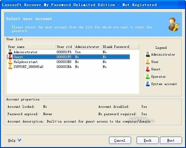 Lazesoft Recover My Password Unlimited Screenshot 3