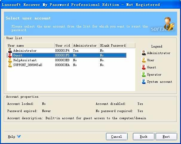 Lazesoft Recover My Password Pro Screenshot 3