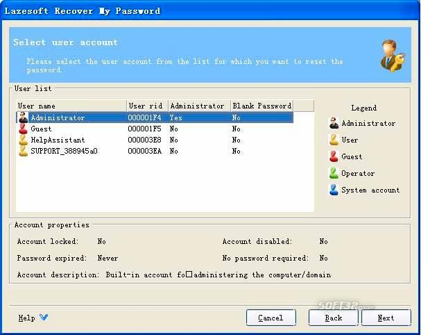 Lazesoft Recover My Password Home Screenshot 3
