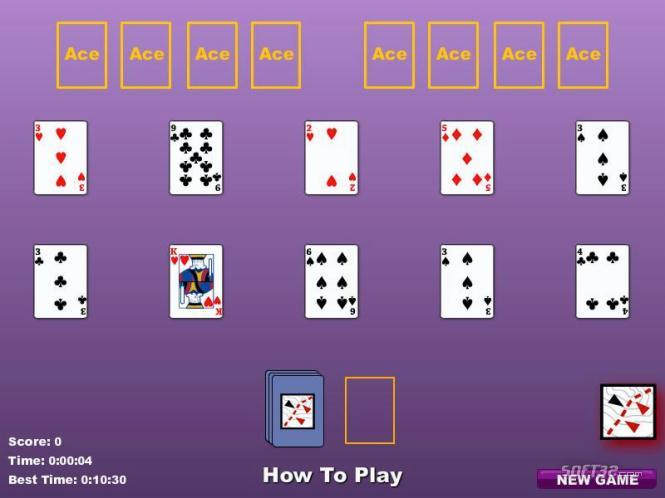 Dice Solitaire (3 pass) Screenshot 3