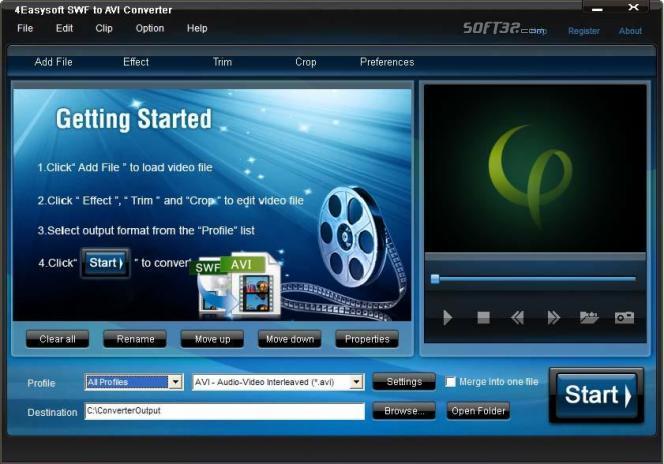 4Easysoft SWF to AVI Converter Screenshot 3
