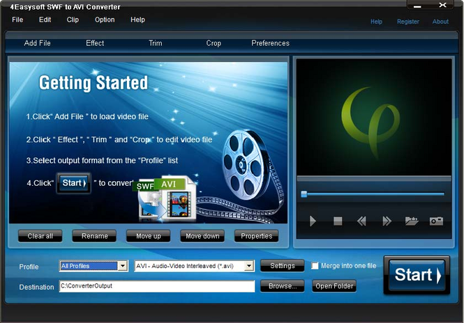 4Easysoft SWF to AVI Converter Screenshot