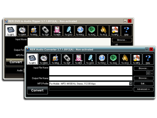RER DVD Audio Converter Pack Screenshot