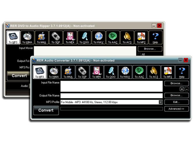 RER DVD Audio Converter Pack Screenshot 1