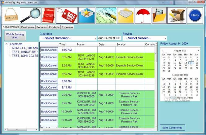 sbFirstDay-Netbook Screenshot 3