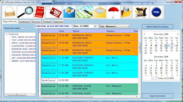 sbFirstDay-Netbook Screenshot