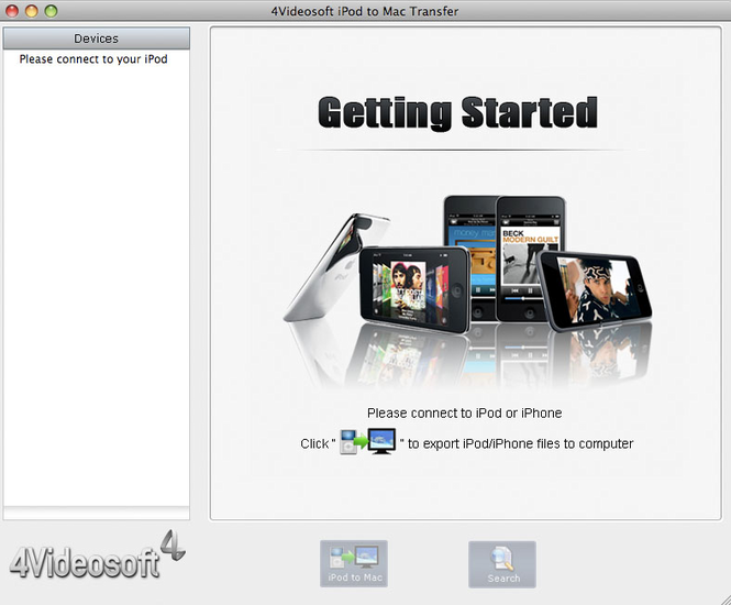 4Videosoft iPod to Mac Transfer Screenshot
