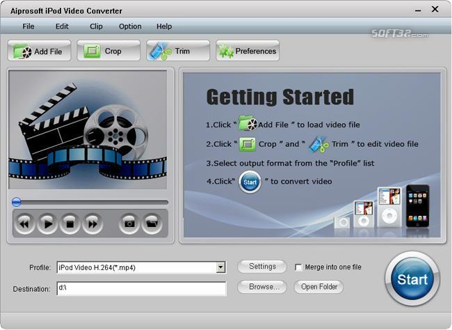 Aiprosoft iPod Video Converter Screenshot 2
