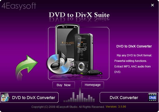 4Easysoft DVD to DivX Suite Screenshot