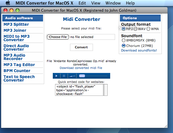 Midi Converter for Mac Screenshot 3