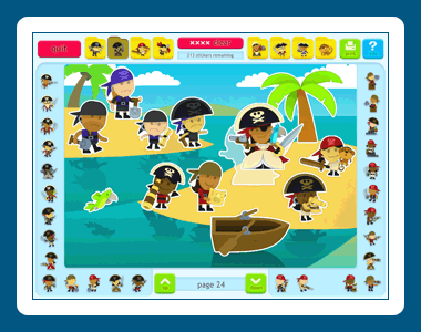 Sticker Activity Pages 5: Pirates Screenshot 1
