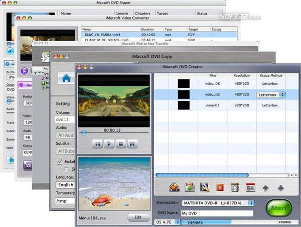 iMacsoft Mac DVD Toolkit Screenshot 3