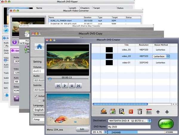 iMacsoft Mac DVD Toolkit Screenshot 1