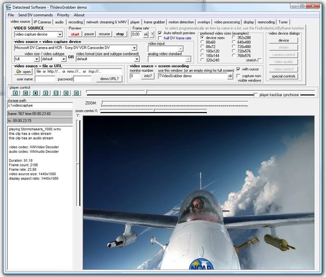 TVideoGrabber Delphi Video SDK Screenshot 1