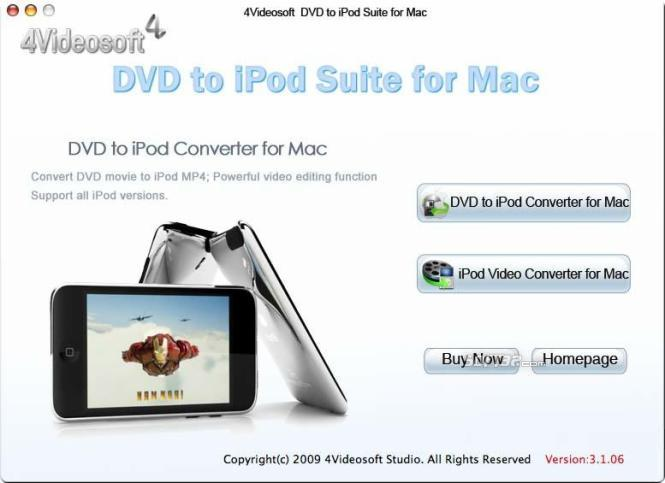 4Videosoft DVD to iPod Suite for Mac Screenshot 3