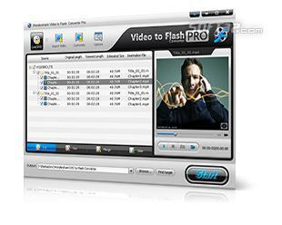 Wondershare Video to Flash Converter Pro Screenshot