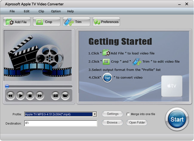 Aiprosoft Apple TV Video Converter Screenshot 1