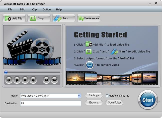 Aiprosoft Total Video Converter Screenshot 3