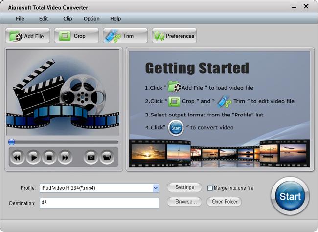 Aiprosoft Total Video Converter Screenshot 1