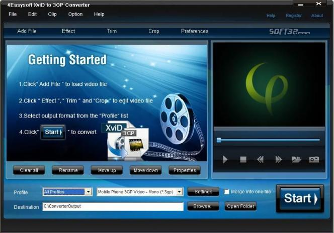 4Easysoft XviD to 3GP Converter Screenshot 3