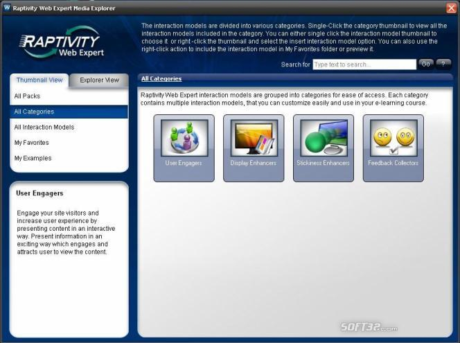 Raptivity Web Expert Screenshot 1