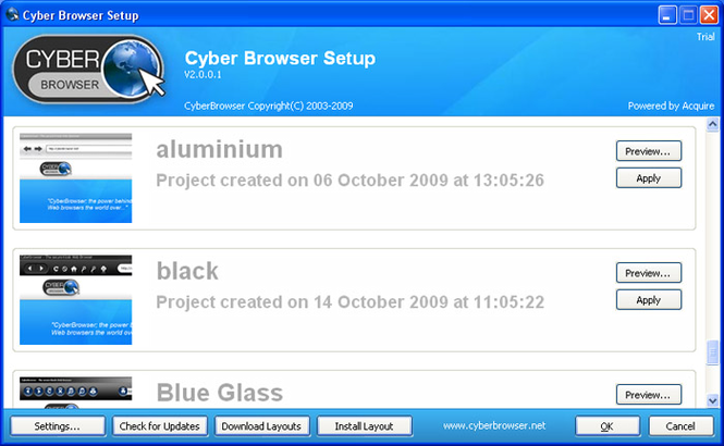 CyberBrowser Screenshot