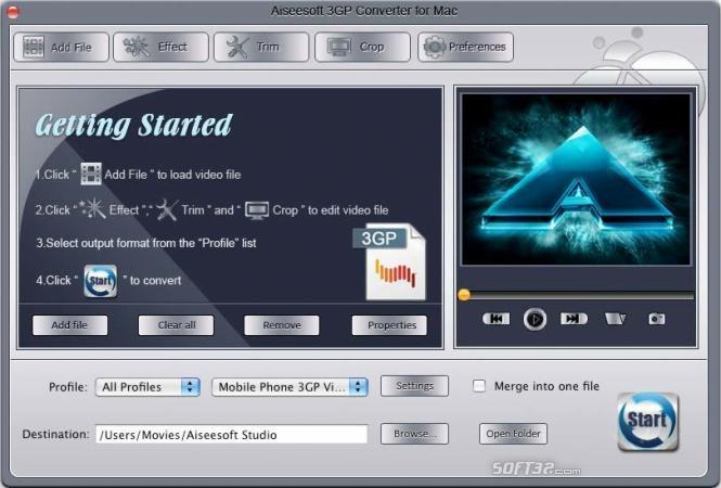 Aiseesoft 3GP Converter for Mac Screenshot 3