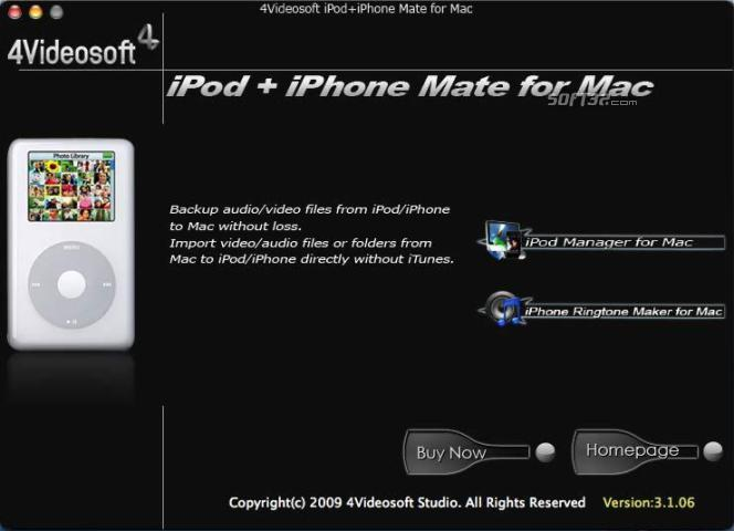 4Videosoft iPod + iPhone Mate for Mac Screenshot 3