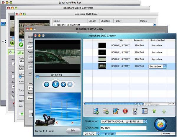 Joboshare Mac DVD Toolkit Screenshot 3