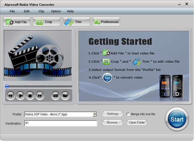 Aiprosoft Nokia Video Converter Screenshot 1