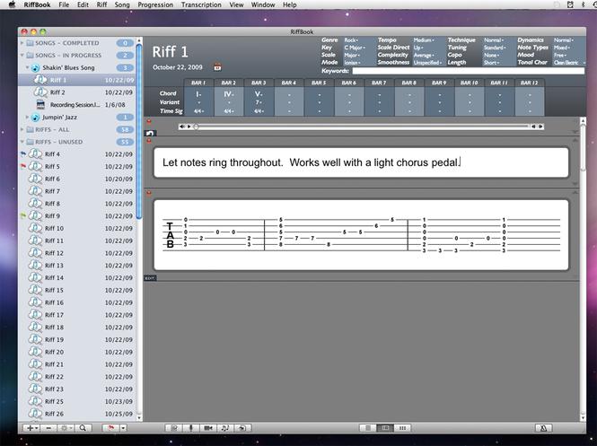 RiffBook Screenshot 1