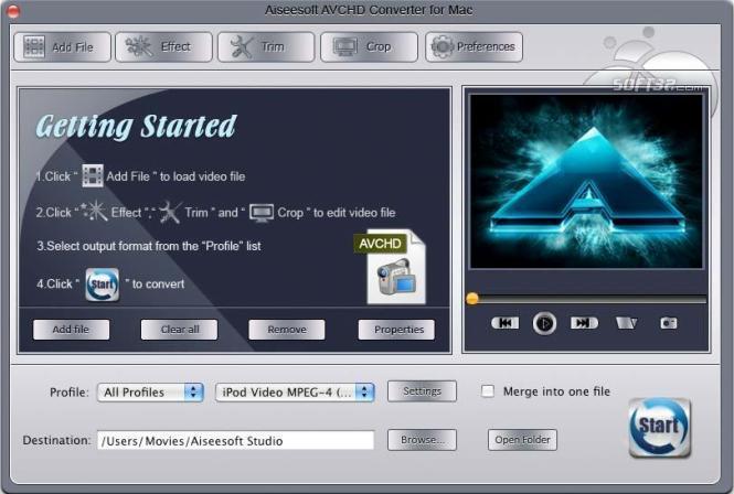 Aiseesoft AVCHD Converter for Mac Screenshot 3