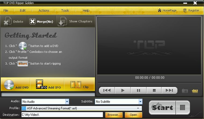 TOP DVD Ripper Golden Screenshot