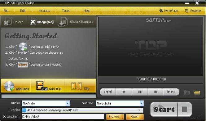 TOP DVD Ripper Golden Screenshot 2