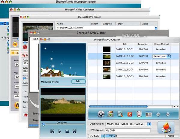 3herosoft Mac DVD Toolkit Screenshot 3