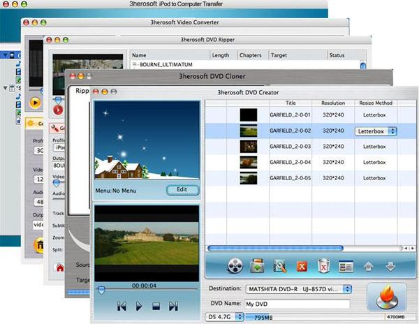 3herosoft Mac DVD Toolkit Screenshot