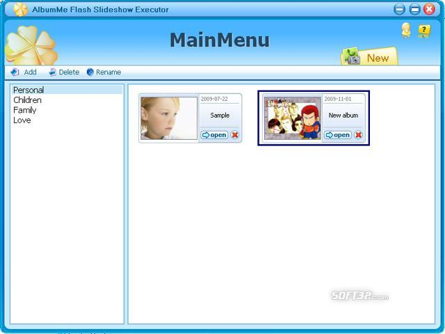 AlbumMe Flash Slideshow Executor Screenshot 3