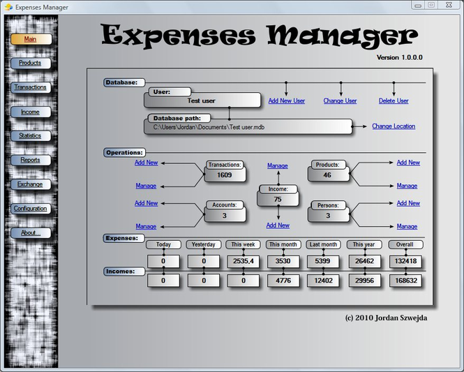Expenses Manager Screenshot 1