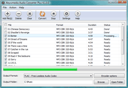 Abyssmedia Audio Converter Plus Screenshot