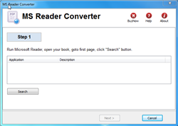 Microsoft Reader Converter Screenshot