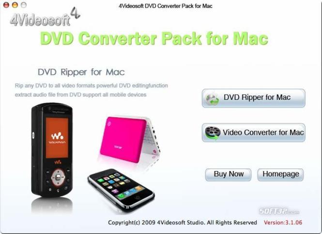 4Videosoft DVD Converter Pack for Mac Screenshot 3