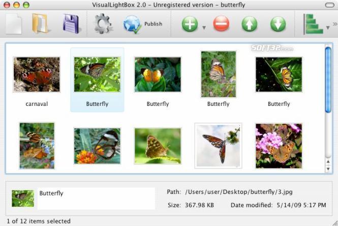 Visual LightBox Mac Screenshot 3
