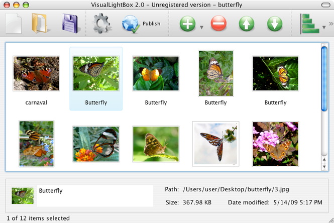 Visual LightBox Mac Screenshot